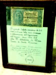 Suor Maria Teresa di Gesù - Una delle banconote lasciate dall'anima del sacerdote defunto