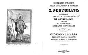 Compendio della vita di San Fortunato Patrono di Montefalco