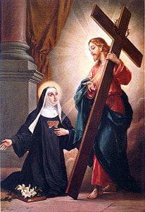 Chiara - Gesù appare a Santa Chiara della Croce
