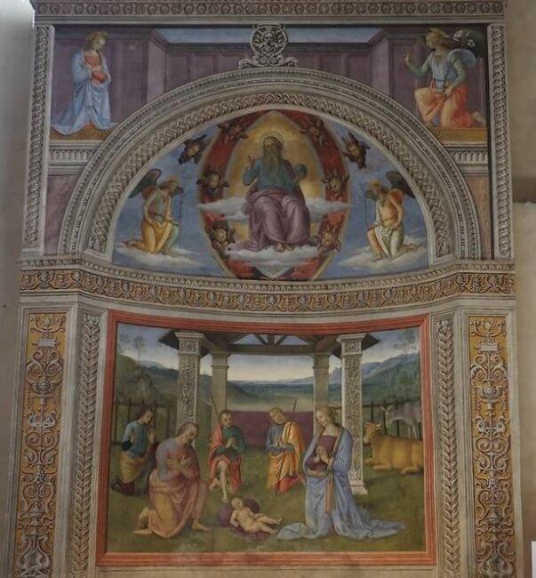 Edicola del Perugino - Chiesa di San Francesco - Montefalco