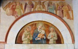San Fortunato - Lunetta del portale di B. Gozzoli