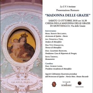 Locandina evento restauro Madonna delle Grazie