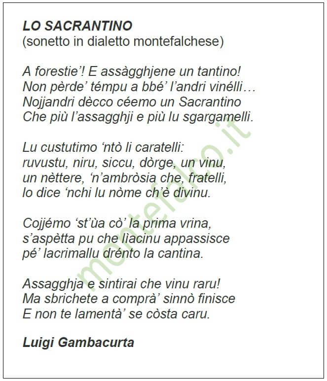 Lo Sacrantino - L. Gambacurta