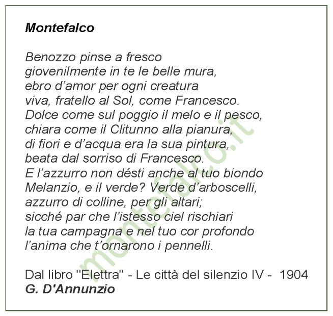 Montefalco - G. D'Annunzio
